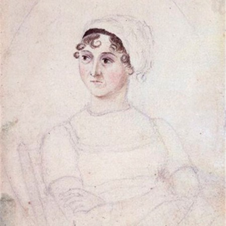 Pencil drawing of Jane Austen